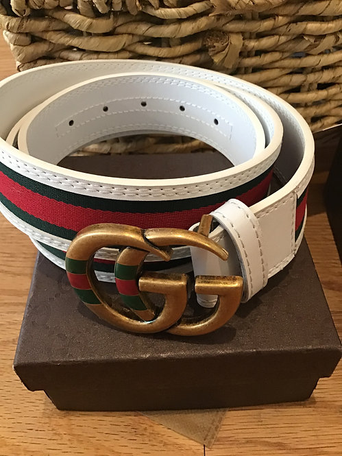 G belt white stripe