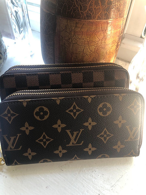Double zipper inspired LV wallet