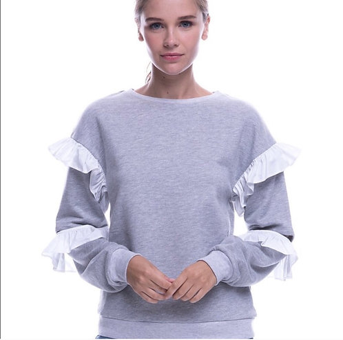 Grey cut out sweat top Sale