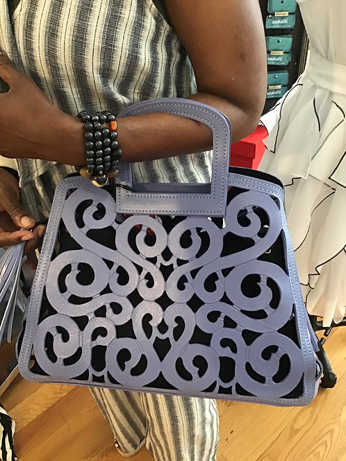 Sophicated FiligreeHand tooled Tote