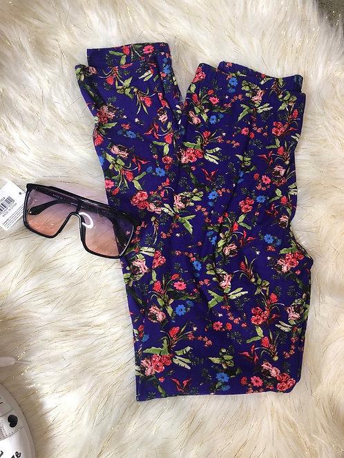 Floral Purple Print Legging