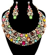 Princess style colorful stone set
