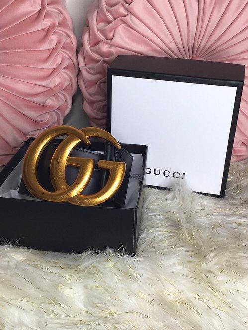 AAA Large GG Belt Gold