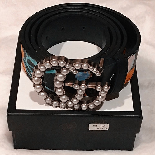 GG  floral Pearl Belt