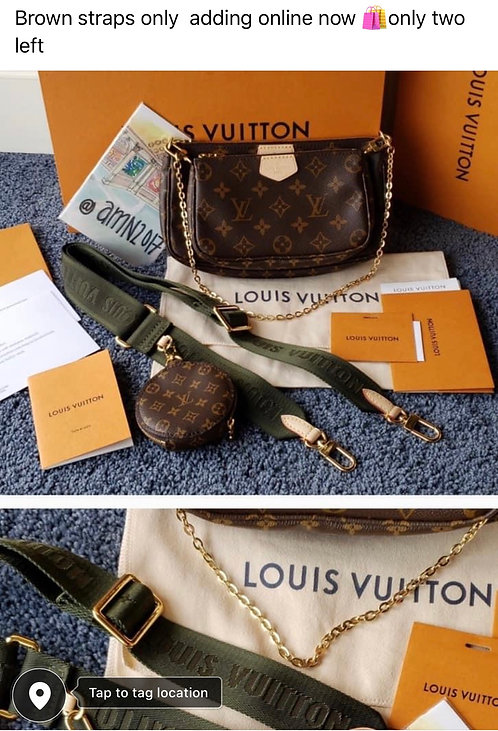 New 3 in 1 inspired Lv bag limited edition brown strap only