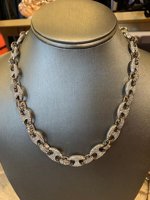 Cubic link necklace