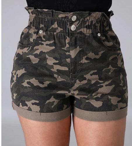 Vamp high waist shorts