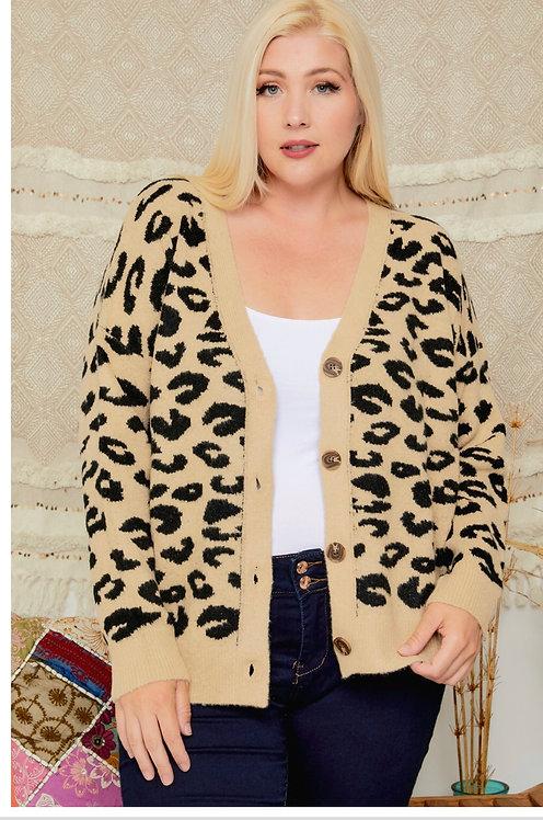 Leopard Pattern Cardigan CESW2183X