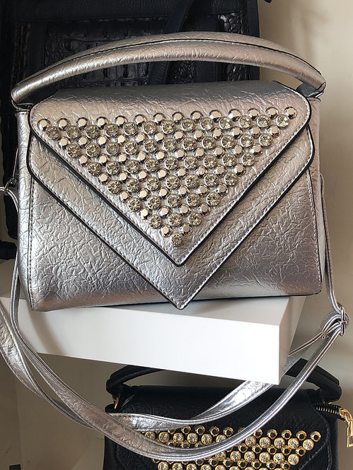 Black Rhinestone purse crossbody /shoulder strap  black only