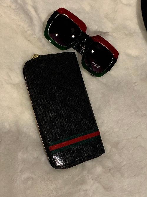 GG zipper wallet