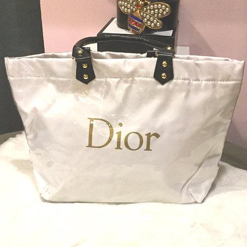 Dior inspired plastic beach bag