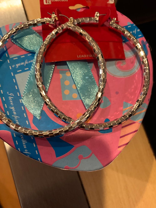 Lucy large hoops silver