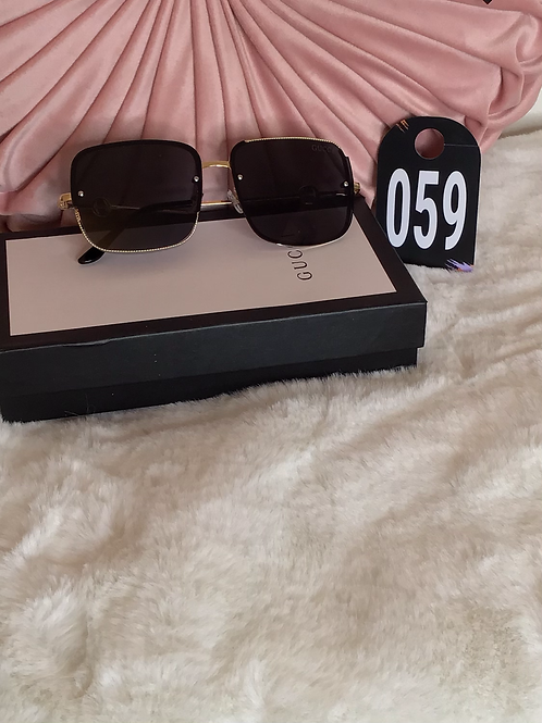 GG Sunglasses With Gold Details 059
