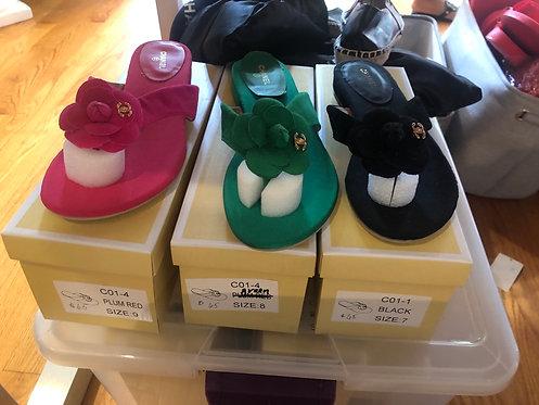Cc tweed sandals  select color
