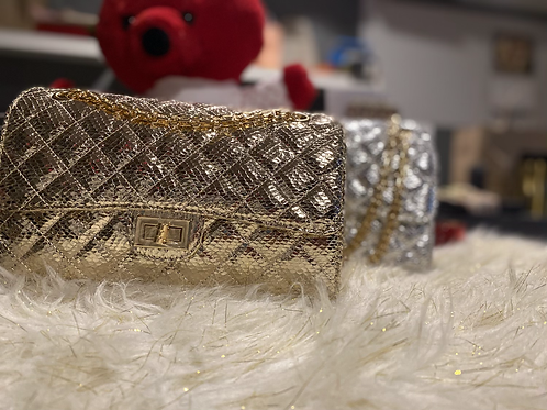 Metallic quilted Bag