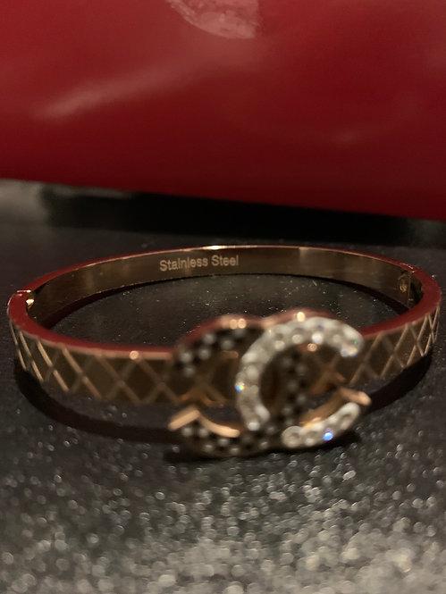 Cc gold bracelet