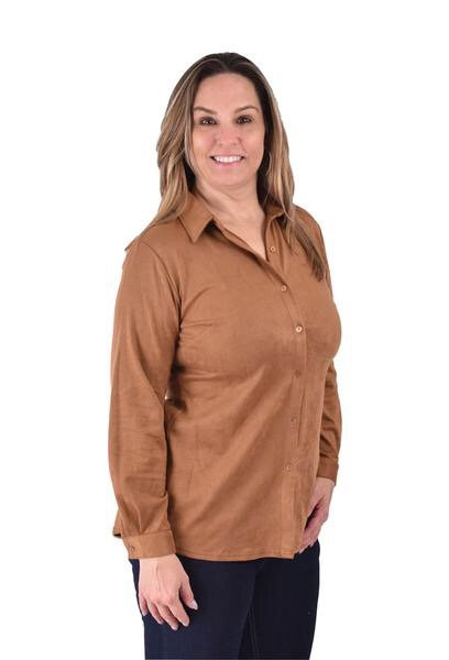 Chase poly suede blouse h1648cog