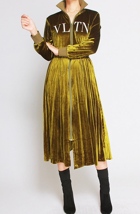 New olive VLTN dress  preorder