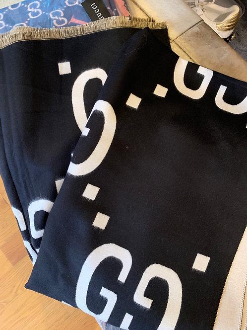 Black GG scarf /Shawl