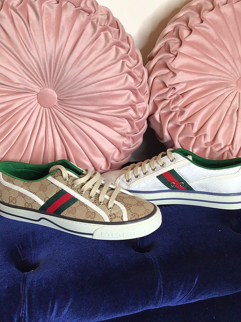 GG Low Top Cloth Sneakers