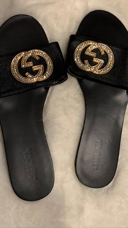 Bling GG slides sandals