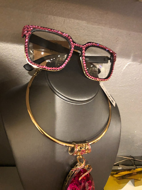 Pink bling shades