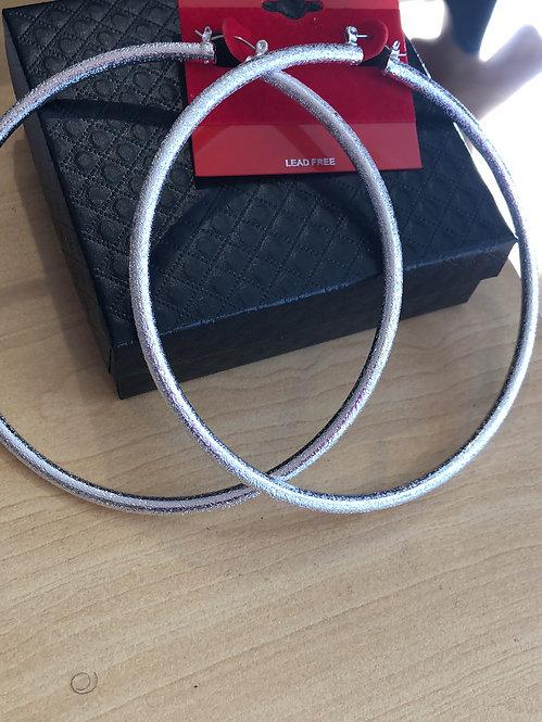 Xlarge silver  hoops