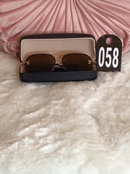 CC Brown Aviator Style Sunglasses 058