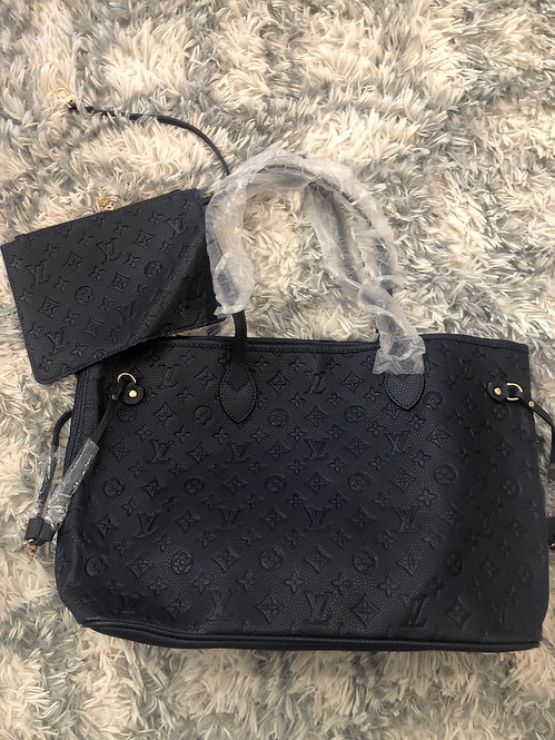 LV embossed tote inspired & poutch    #34