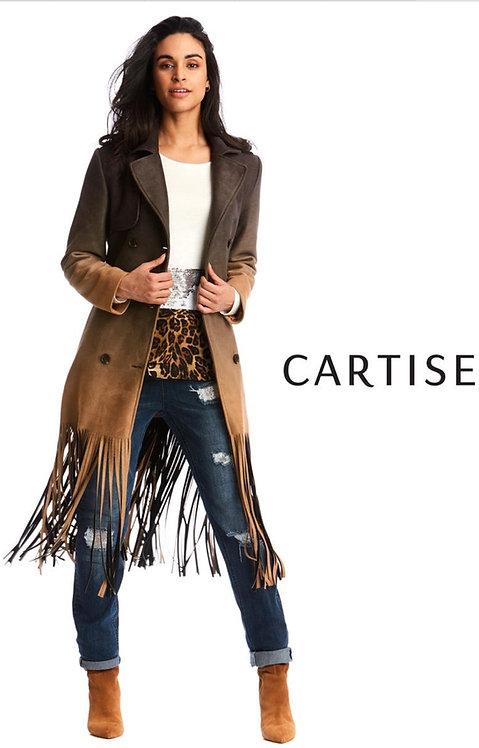 New Cartise Brown fringe jacket