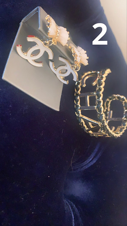 CC Gold Earrings
