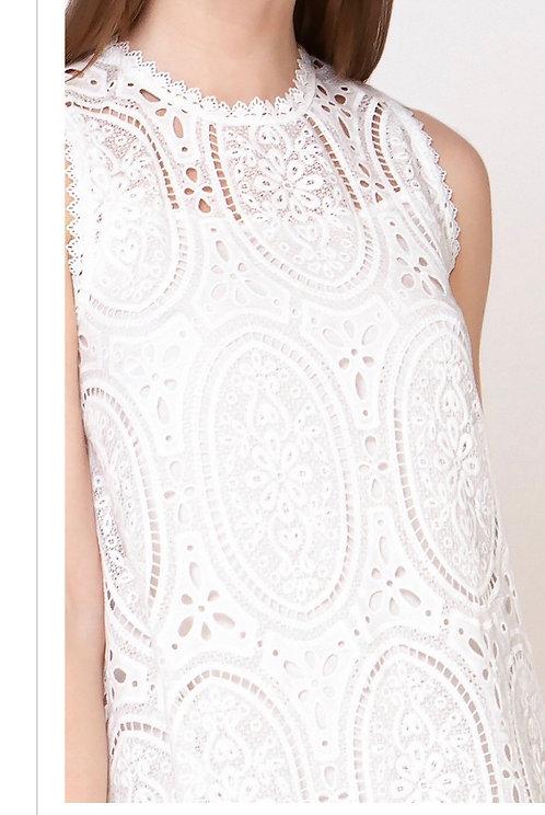 Lace Pattern Shift Dress D24903