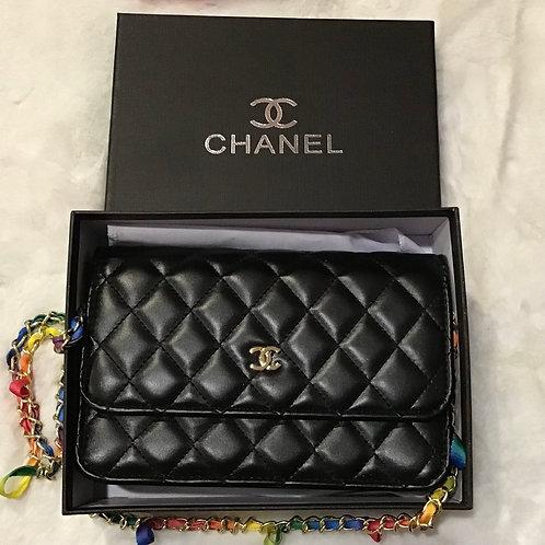 CC rainbow braided chain crossbody