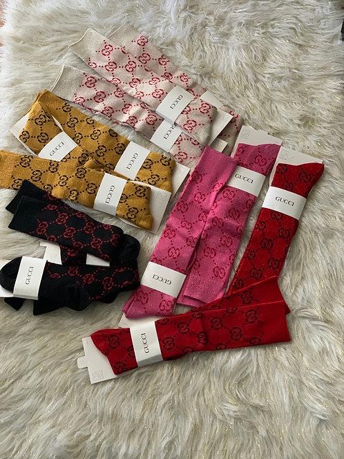 New GG shimmery socks