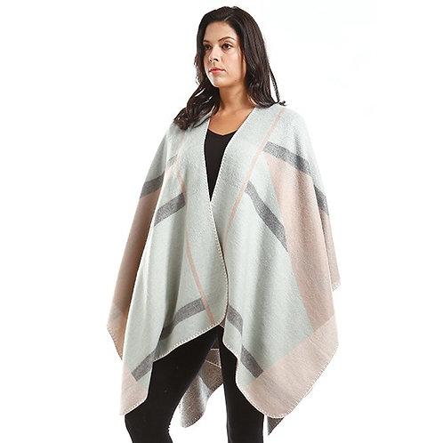Geometric shawl  mint