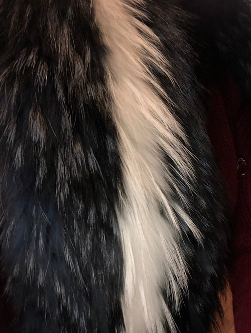 Maria scarf of racoon Fur collar  with clips