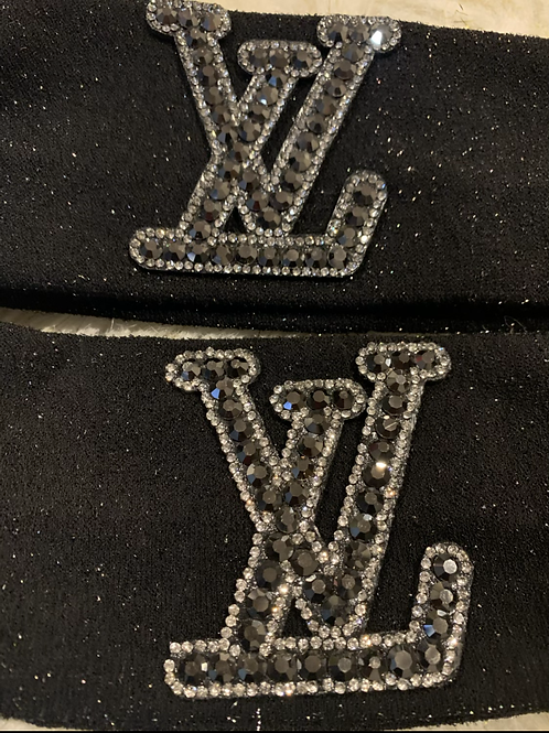 Black Bling LV headband