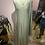 Thumbnail: Tempo Long green silk dress