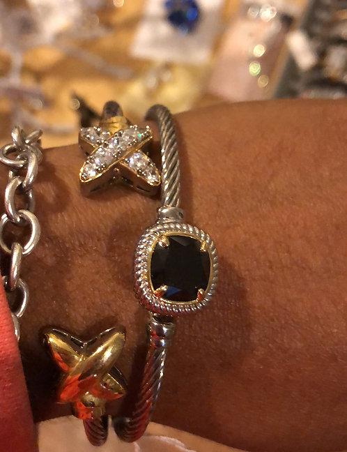 Designer bracelet Black Stone