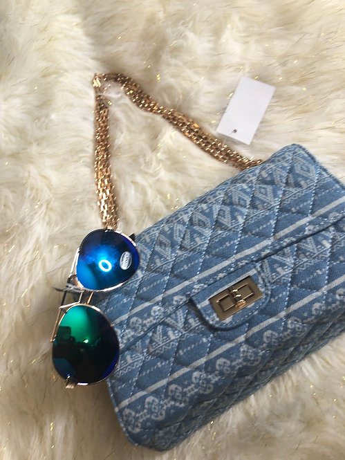 3401 blue denim purse