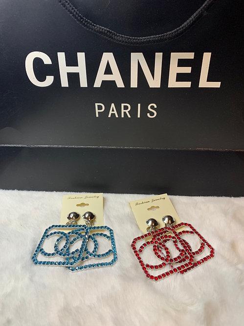 Cc clip on earrings