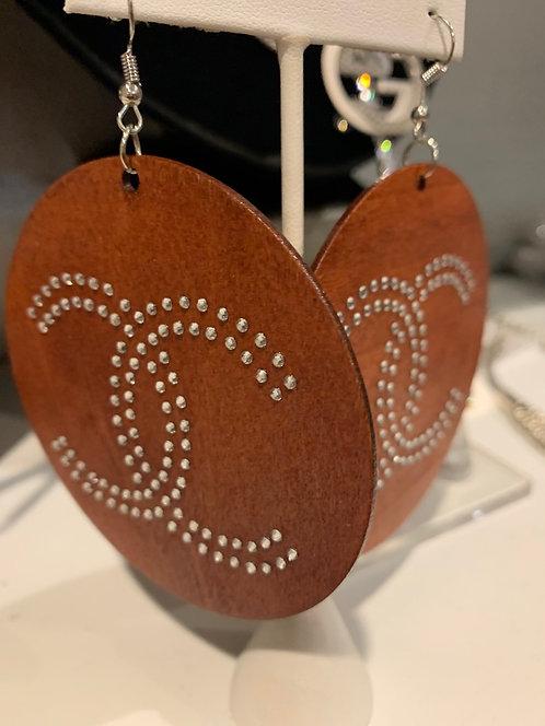 CC wood earrings