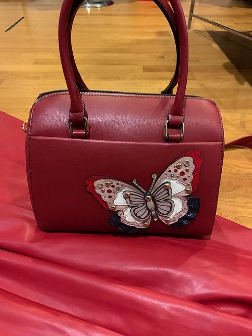 097 Butterfly speedy handbag