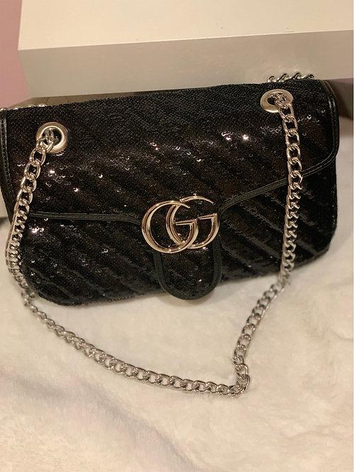 Sequin Black GG handbag