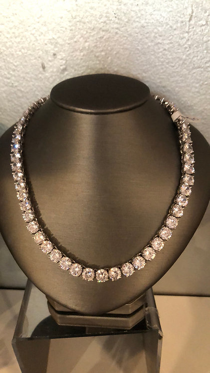 Fine Cubic Zirconia necklace graduate tennis style only  graduate