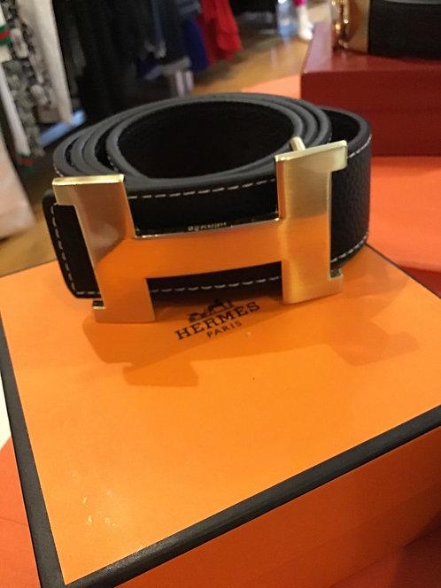 New H belt  gold buckle