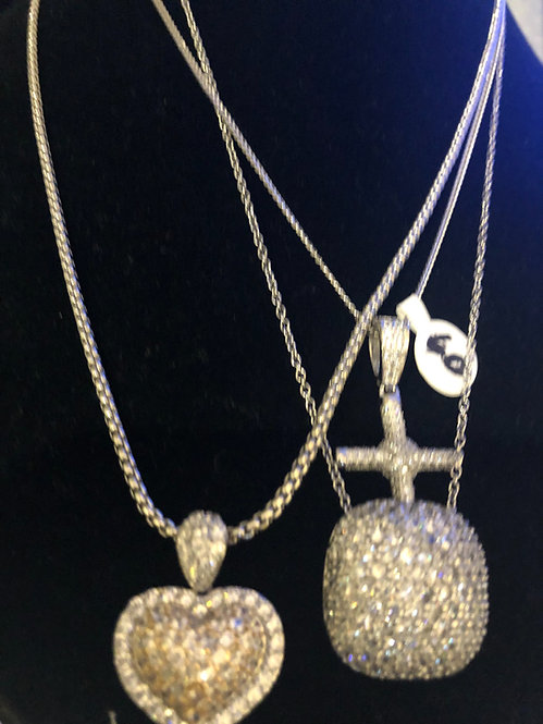 Beautiful stainless steel heart necklace
