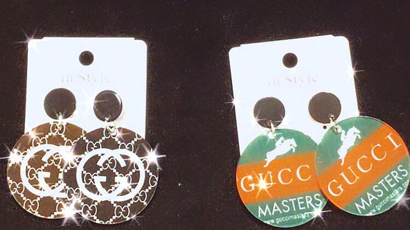 GG  circle dangle earrings