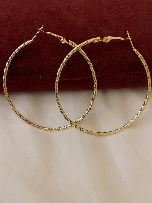 Medium thin hoops