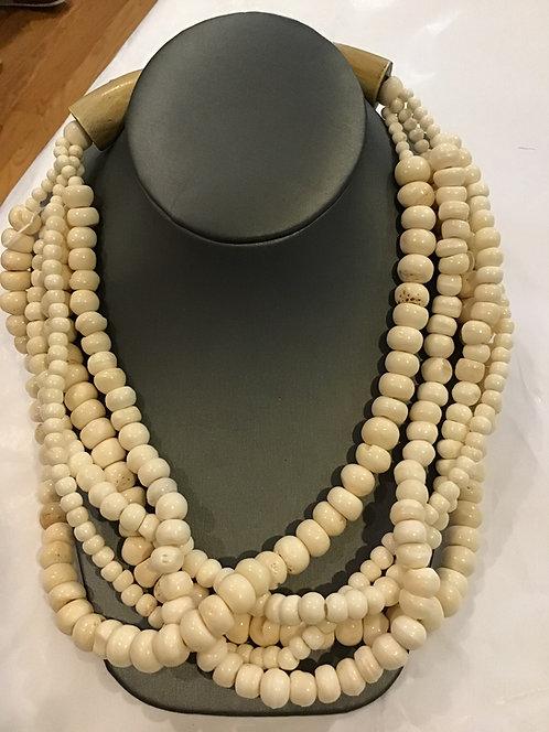 African Ivory beaded necklace AF3